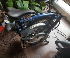 Brompton folding bike M6L 6 speed blue - Reading