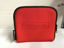 Nintendo 2Ds Official Nintendo Branded Red Carry Case Soft W/ Game Storage