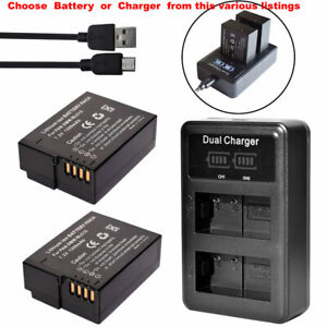 Battery or Dual USB Charger for  Leica BP-DC12 Sigma BP-51 Sigma FP / Sigma fp L