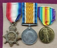 WW1 BRITISH MEDAL TRIO ASC