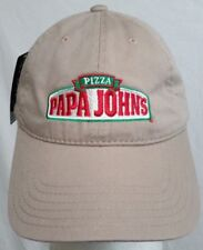 "PAPA JOHN'S PIZZA ""BETTER INGREDIENTS BETTER PIZZA UNIFORM LOGO BASEBALL HAT CAP"