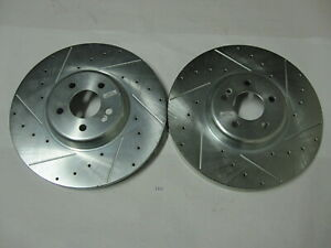 Front Right Left Pair Brake Rotors Power Stop Evolution Performance
