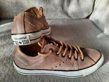 Men's 6 women's 8 Brown leather converse tennis shoes
