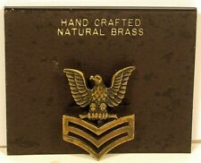 Usn Us Navy Natural Brass Petty Officer First Class Badge Insignia Pin Novelty