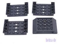 LEGO - 4 x Schrägstein Rumpf Wanne doppelt invers 6x4 dunkelgrau / 60219 NEUWARE