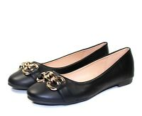 andy-05 New Fashion Slip On Synthetic Casual Party Flats Women's Shoes Black
