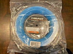 New HEAD LYNX EDGE 17g/1.25mm Tennis String 200M Reel Control Spin Blue 281716