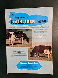 1977-78 SKAGVALE HOLSTEIN FARM MAINLINER HERD DIRECTORY BOOK - TENNESON BROS.