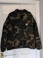 Carhartt WIP Winter Nimbus Fleeced Pull Over Jacket Camo Size M