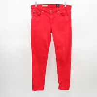AG Adriano Goldschmied Stevie Ankle Jeans Slim Straight Leg Womens Red W29R L28