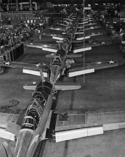 Vultee BT-13's aviation  Texan Plane Assembly Line WWII Photo FL69