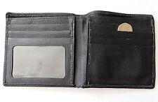 Vintage black wallet 1990s faux leather ID holder lots of credit card slots