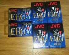 Lot of 6 JVC VHS-C - TC-30 EHG - 90 Minute Compact VHS High Energy Tapes! HI-FI