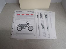 OEM Honda Set Up Instructions 1981-1983 XL100S 49 Pgs Date of Issue 10/82