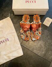 Emilio Pucci Vintage Womens Sandals Flats Shoes Flip Flops In Size Uk 4 Eu 37