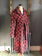 Red long wool coat size UK 10 by BCBG Maxazria
