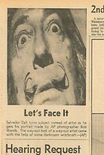 Salvador Dali Lets Face It Photograph by Bob Wands Original Newspaper Jan 8 1969