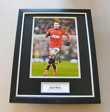 Juan Mata Signed Framed 16x12 Photo Autograph Man Utd Memorabilia Display + COA