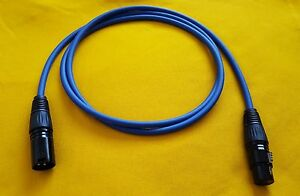 Mogami 2549 XLR-M to XLR-F 3 Pin Gold Contacts Balanced Audio Cable Blue 3 ft