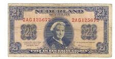 NEDERLAND BANKBILJET 2,5 GULDEN 1945 15-1C