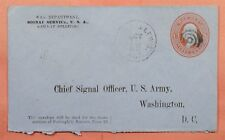 1881 WAR DEPARTMENT OFFICIAL STATIONERY RPO CANCEL