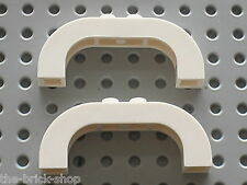 LEGO White Arch 1 x 6 x 2 with Curved Top ref 6183 / Set 10212 7931 7315 41015..