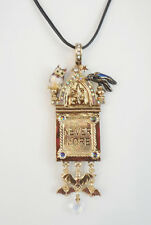 NEW KIRKS FOLLY NEVER MORE RAVEN PENDANT CORD NECKLACE  GOLDTONE