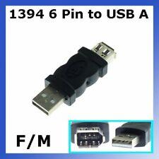 Firewire IEEE 1394 6 Pin F zu USB M Adapter Konverter 52x18x9mm für USB 1.1/2.0