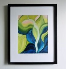 Medium (up to 36in.) Blue Floral Art Paintings
