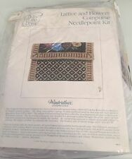 Lattice and Flowers Coinpurse Needlepoint Kit. Vintage. Its Polite to Point. Win