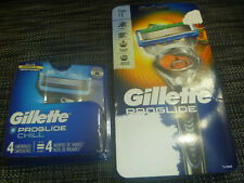 4 Gillette Fusion Chill Blade Refill Cartridges + Proglide Razor HANDLE