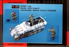 Hobby Fan 1/35 Hf-593 Wwii German Sd.Kfz.251/3C Commander Vehicle Crew - 2 Figs