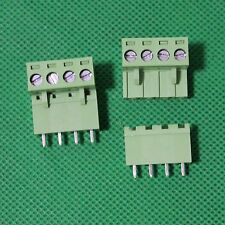 5pair 4 Pin Plug-in Screw Terminal Block Connector 5.08mm Pitch Right 10pcs