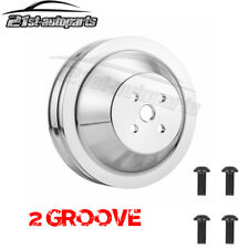 2 Groove Water Pump Pulley V Belt For Small Block Ford 302 351w 351m With4 Bolt