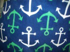Nautical anchors blue blanket  fabric fleece girl boy personalized Blanket 36x30