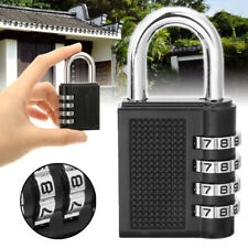 4 Dial Digit Zinc Alloy Security Padlock Outdoor Heavy Duty Combination Lock US