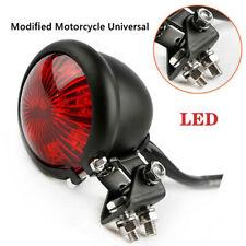 1X Motorcycle Modified LED Brake Tail Light Signal Light Small Round Tail Light