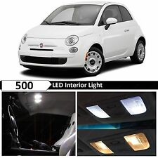 5x White LED Lights Interior Package Kit for 2012-2017 FIAT 500 + TOOL