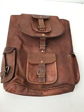 Phoenix Craft Casual Real Genuine Leather Backpack Fashion Shoolbag Camping Bag