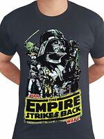 Star Wars Darth Vader Empire Strikes Back Poster Licensed Black Mens T-shirt
