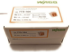 Wago Wire Connector 600 V Clear 4 Conductor 100 Box