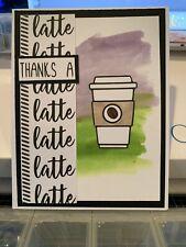 Stampin Up Card Kit Coffee Latte Thank You