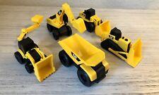 Lot of 5 Cat Caterpillar Mini Machines Construction Truck Set Plastic