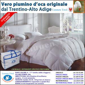 Piumino Piumone in Piuma d' Oca LAUNEN TIROL Soffice,Caldo,Vera Piuma d'Oca 100%