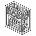 LEGO Technic CLEAR GEARBOX 2 x 4 x 3 1/3 wormbox gear reducer block part 6588