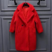 Luxury Women's Oversize Fur Full Long Thick Lapel Wool Warm Winter Outwear coats