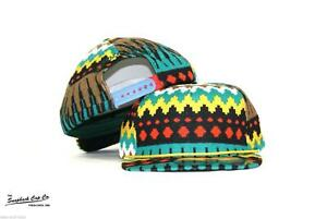 NEW XL Zig Zag Snapback Hat SNAPBACK CAP CO All Over Patterned 6 Panel Cap