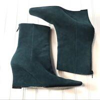 Ann Marino Size 9 Aqua Suede Boots