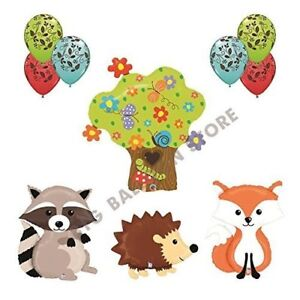 THE ULTIMATE 10pc Woodland Creatures Baby Shower / Birthday Balloon Decoration