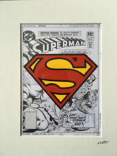 Superman - DC Comics - Logo - Hand Drawn & Hand Painted Cel